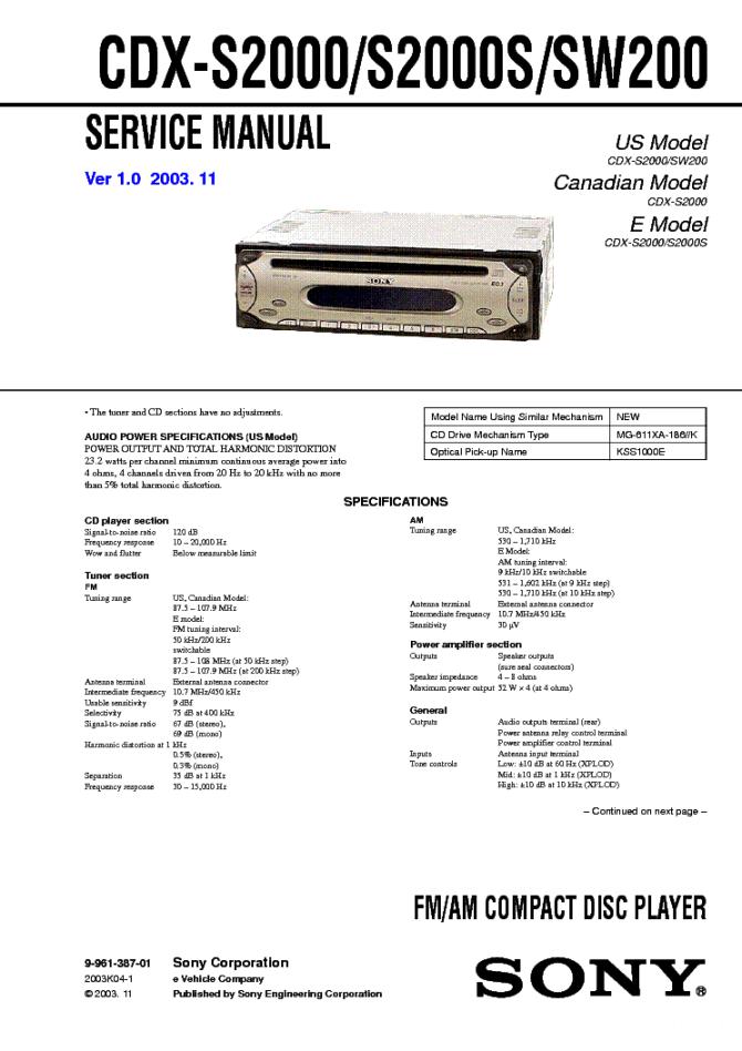 car radio wiring diagram sony cdx s2000  1993 gmc sierra