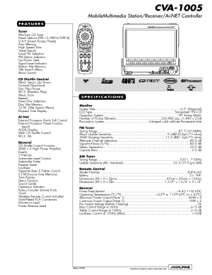 ALPINE CVA1005 WIRING DIAGRAM Service Manual download