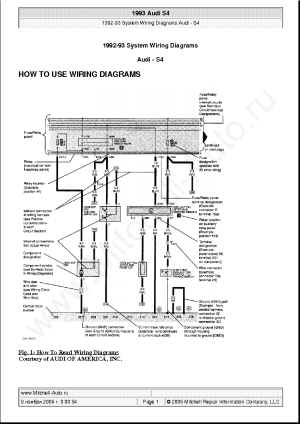 AUDI S4 1993 WIRING DIAGRAMS SCH Service Manual download