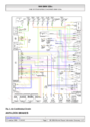 BMW 328IS 1996 WIRING DIAGRAMS SCH Service Manual download
