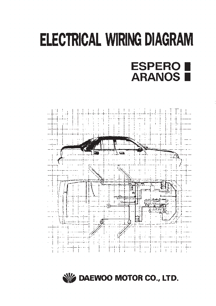 service manual  electrical relays schematic 1999 daewoo