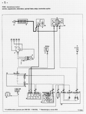 FIAT UNO WIRING DIAGRAM Service Manual download