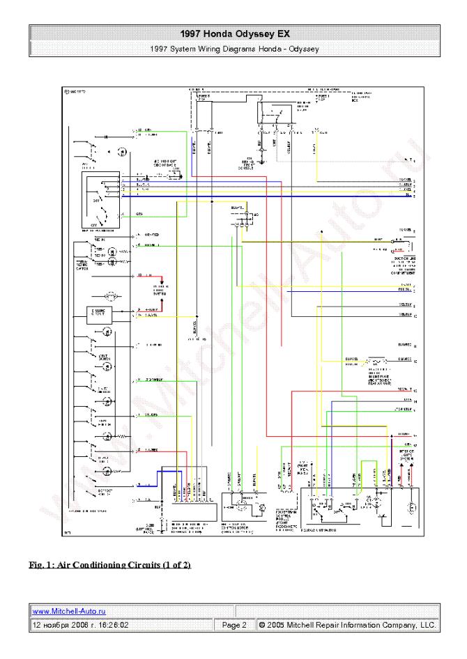 2008 honda odyssey wiring schematic  wiring diagram wave