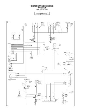 SUZUKI SWIFT 1996 SCH Service Manual download, schematics