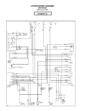 SUZUKI SIDEKICK WIRING DIAGRAM 95,96 SCH Service Manual