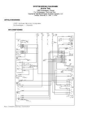 VW PASSAT 1995 WIRING DIAGRAM Service Manual download