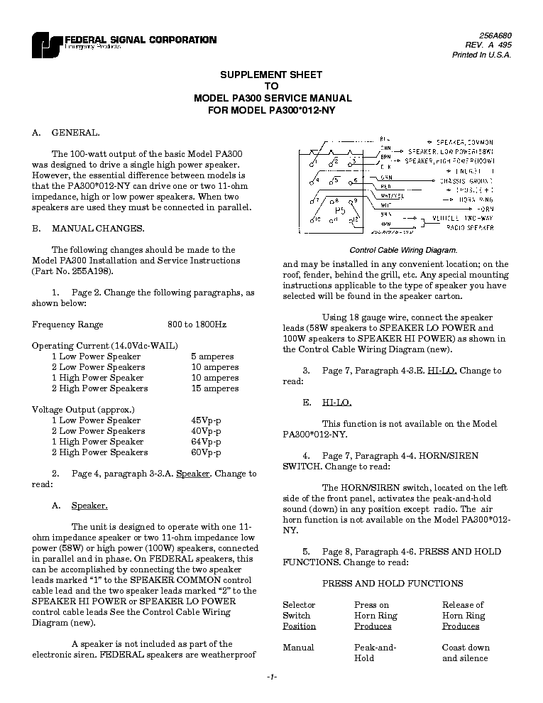 federal_signal_pa300_sch.pdf_1?resize=665%2C861&ssl=1 pa300 wiring diagram model 69002 wiring diagram images  at bayanpartner.co