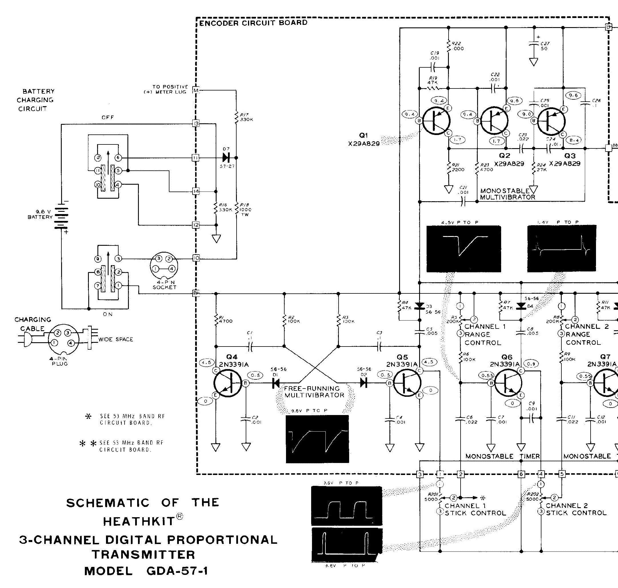 Heathkit Gda 57 1 3 Channel Rc Transmitter Sm Service Manual Download Schematics Eeprom