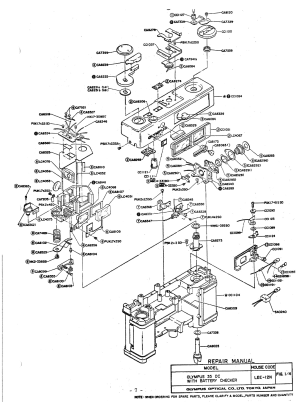 OLYMPUS 35DC EXPLODED PARTS DIAGRAM Service Manual download, schematics, eeprom, repair info for