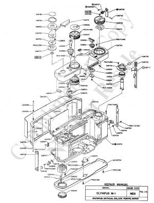 OLYMPUS OM1 EXPLODED PARTS DIAGRAM Service Manual