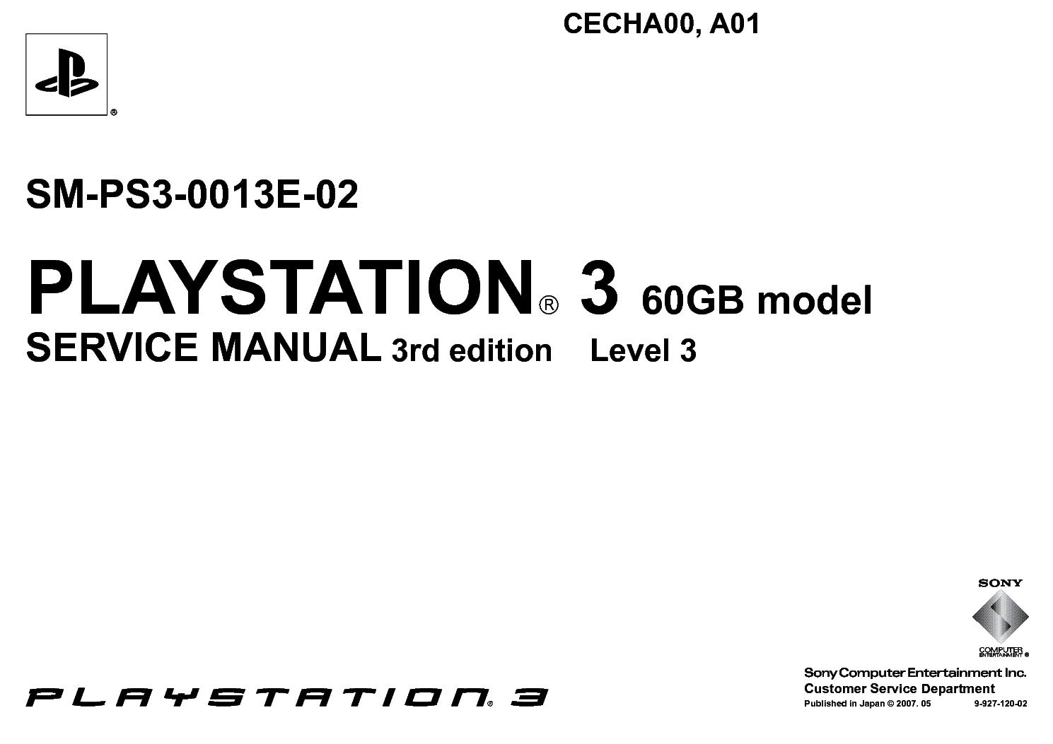 Sony Playstation 3 Cecha00 Cecha01 Sm Ps3 E 02 Service