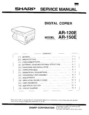 SHARP ARM236 ARM276 ARM237 ARM277 SM Service Manual