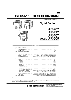 SHARP MXFN10 MXPNX5 MXRBX3 Service Manual download
