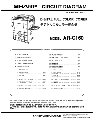 SHARP ARC160 CIRCUIT DIAGRAM Service Manual download