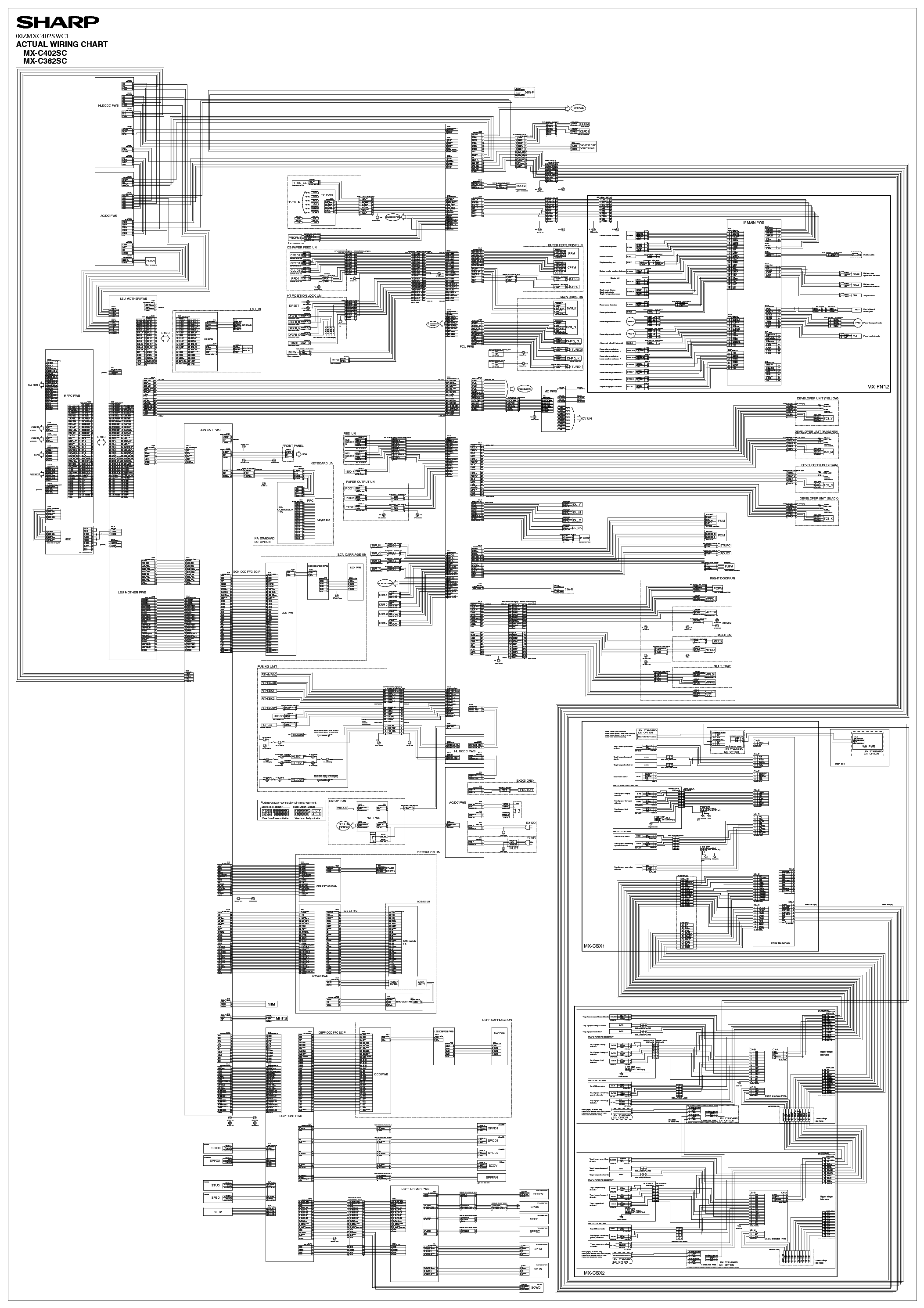 Sharp Mx C382sc Mx C402sc Wiring Diagram Service Manual