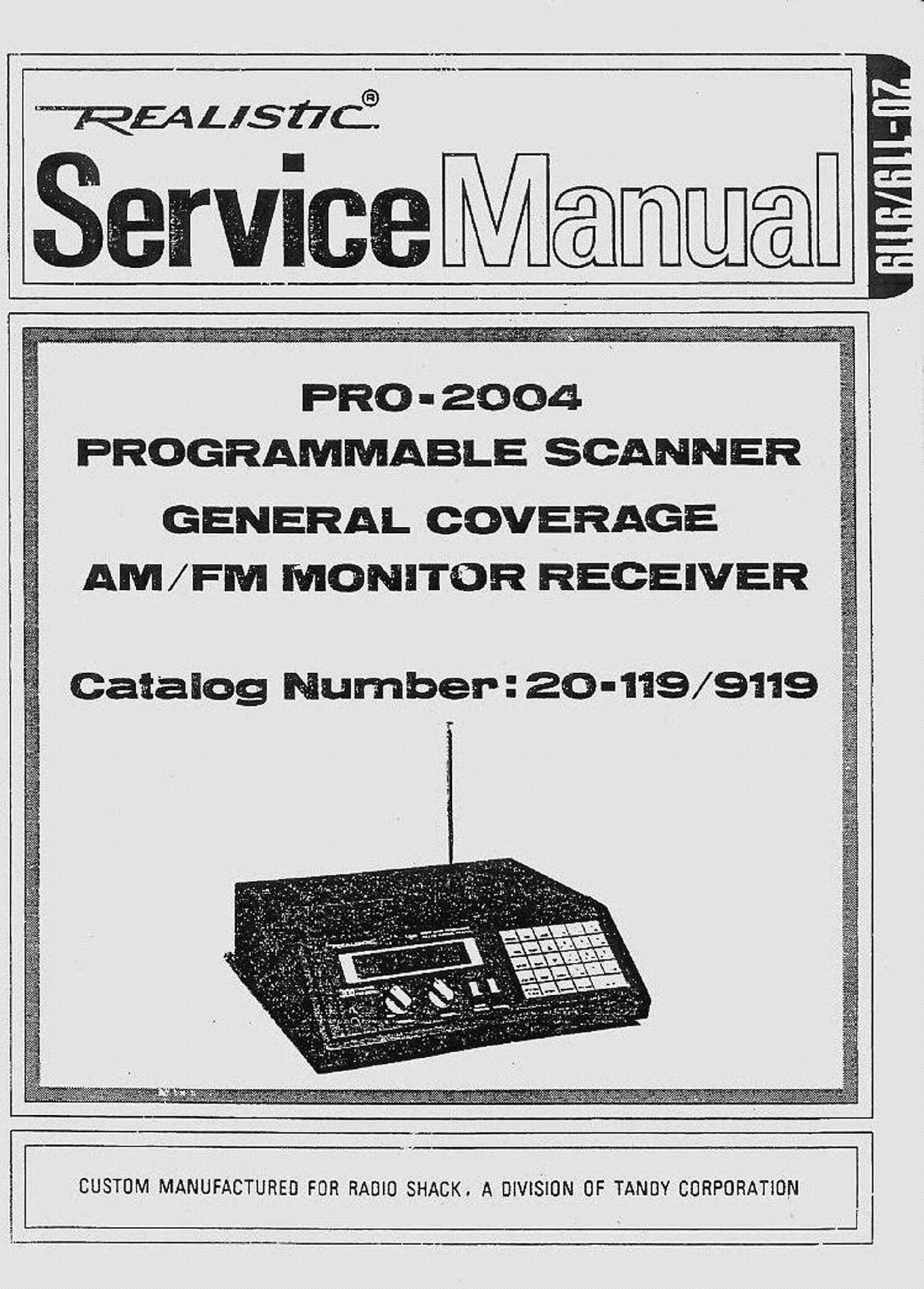 Realistic Trc 10 Service Manual Free Download Schematics