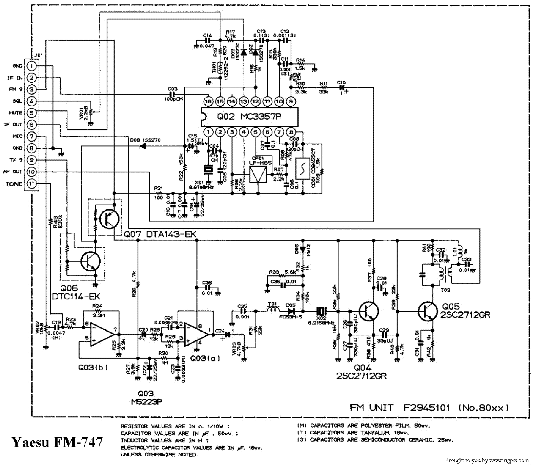 Yaesu Ft R Service Manual Free Download Schematics