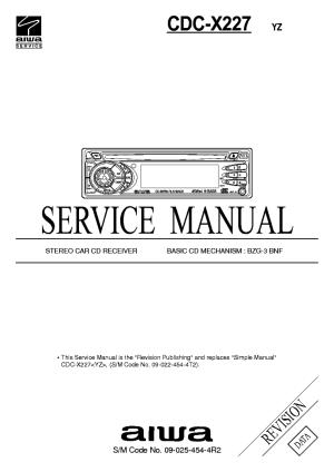 AIWA CDCX227 Service Manual download, schematics, eeprom