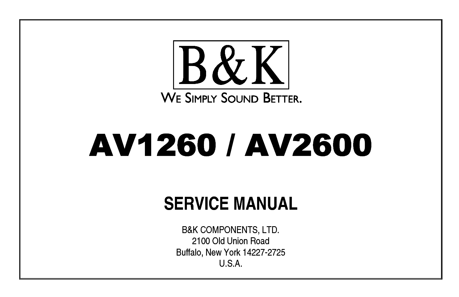 Bk Av Av Service Manual Download Schematics