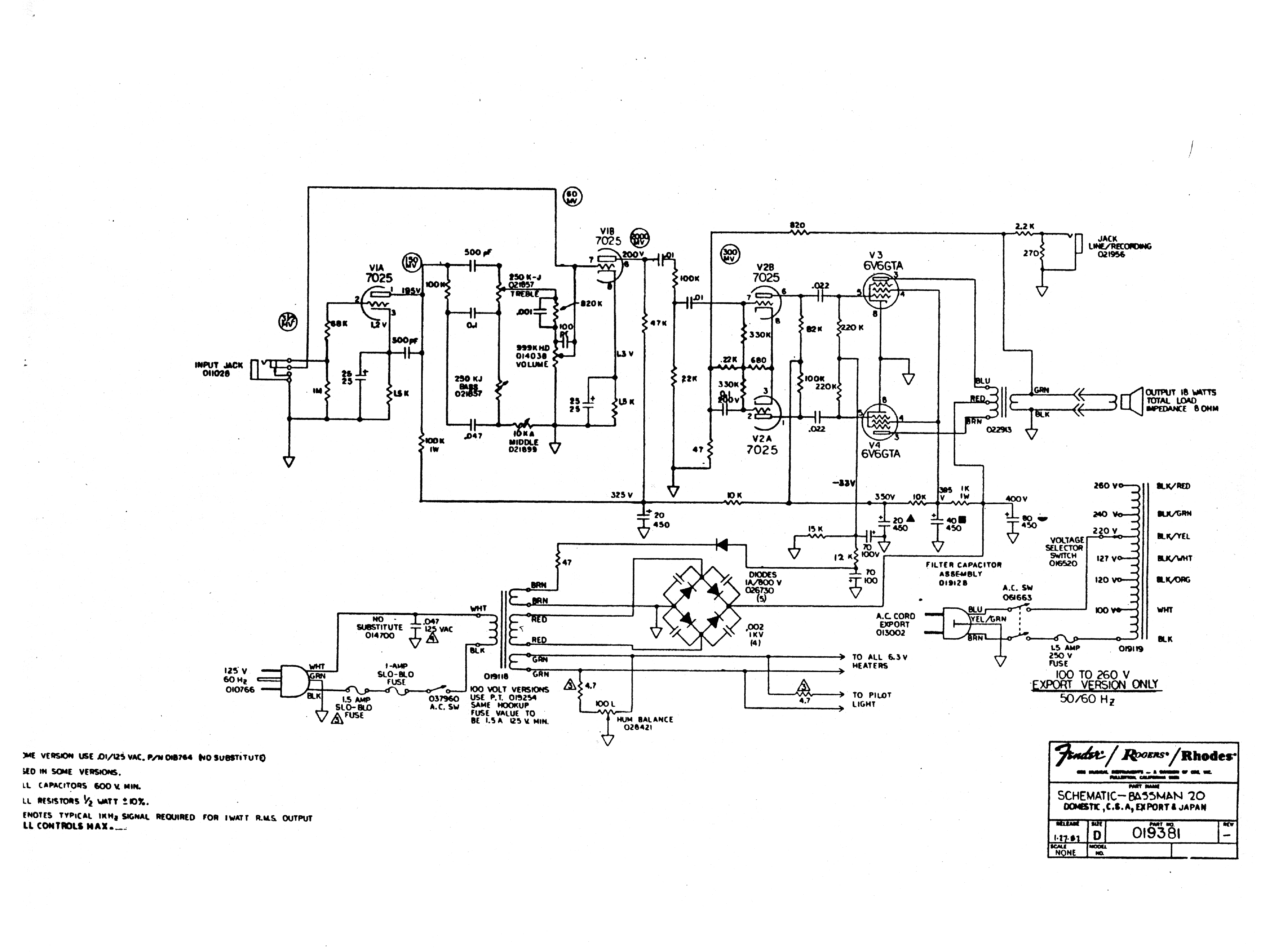 Fender Super Champ Xd Schematic