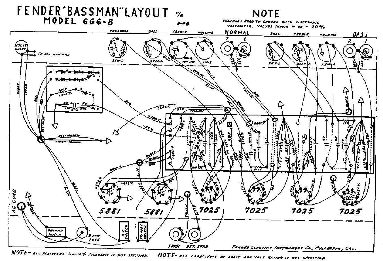 Fender Bassman 6g6b Sch Service Manual Download
