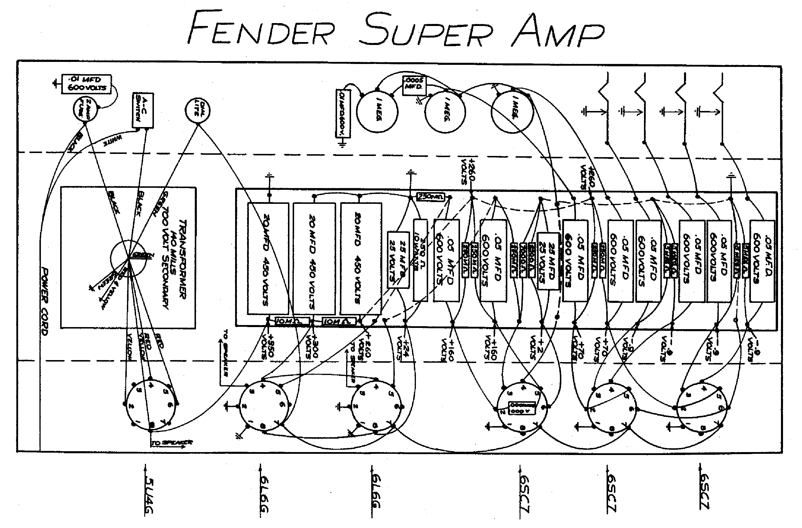 Fender Super Amp 5b4 Layout Service Manual Download