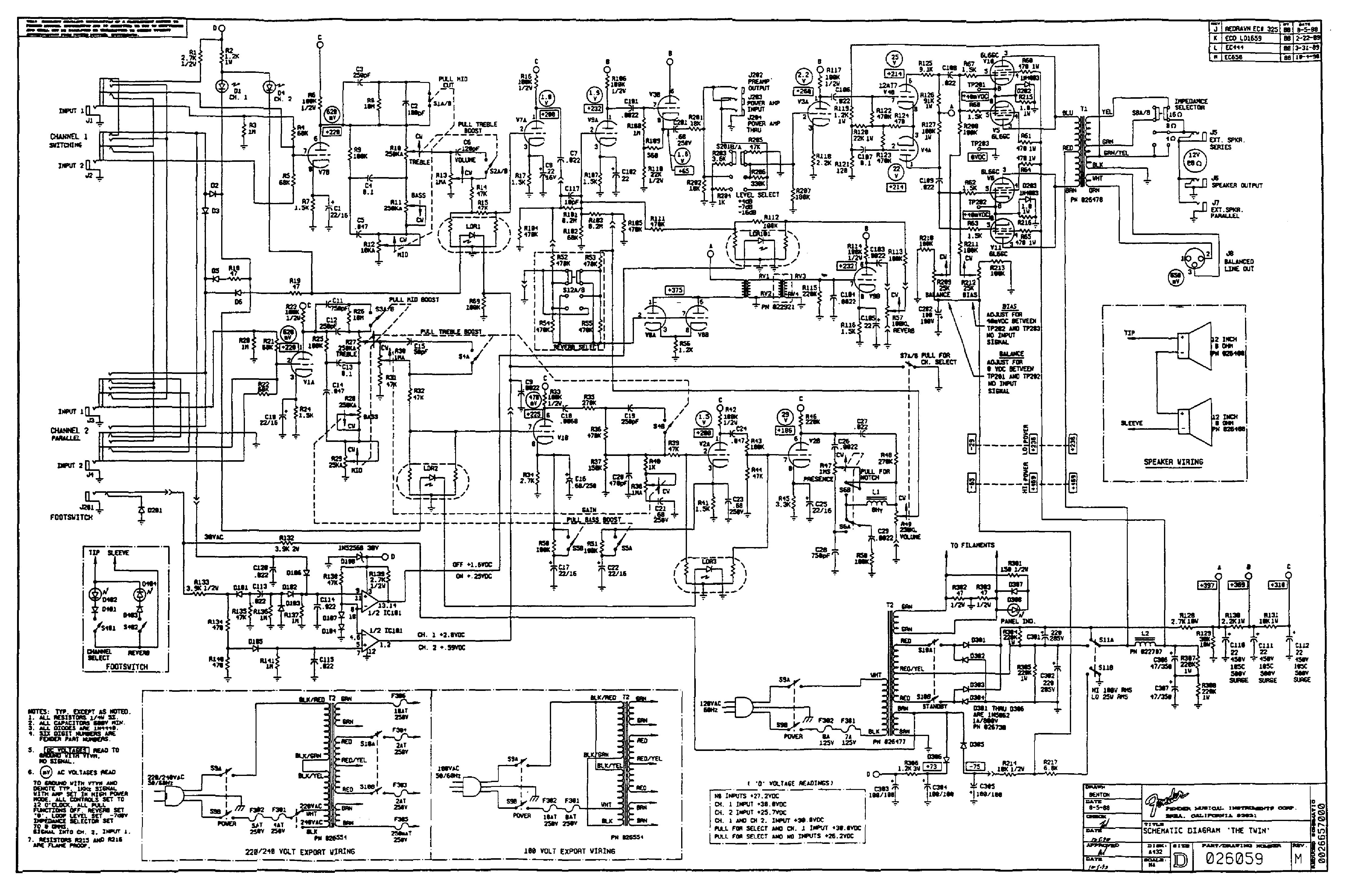 Fender Fm65dsp Sch Service Manual Download Schematics