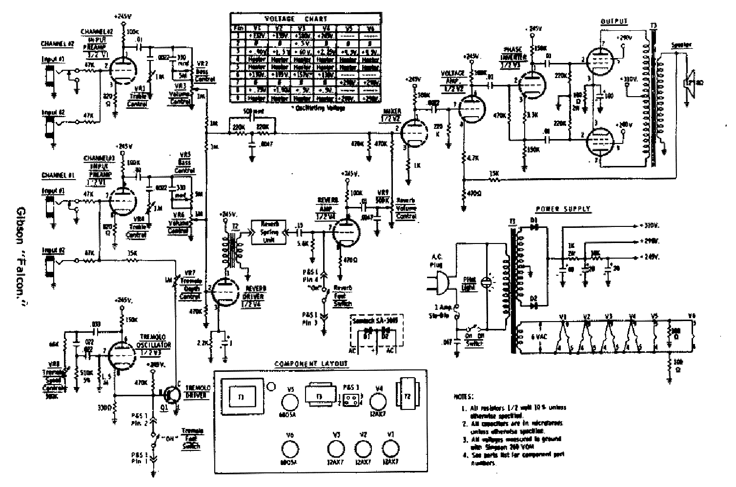 Gibson Ga 45rvt Saturn Schematic Service Manual Free
