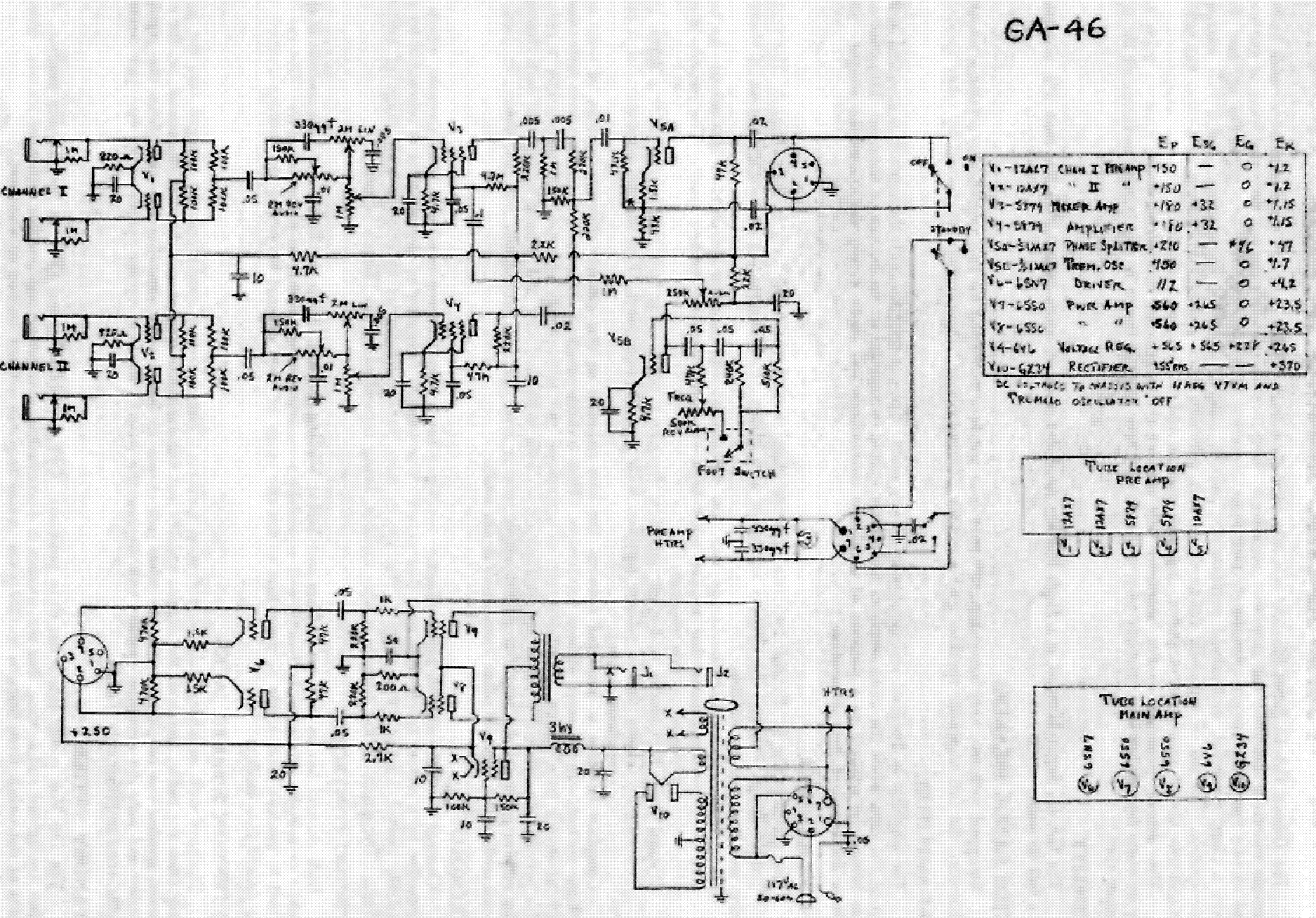 Gibson Eh 185 65q7 Pre Schematic Service Manual Download