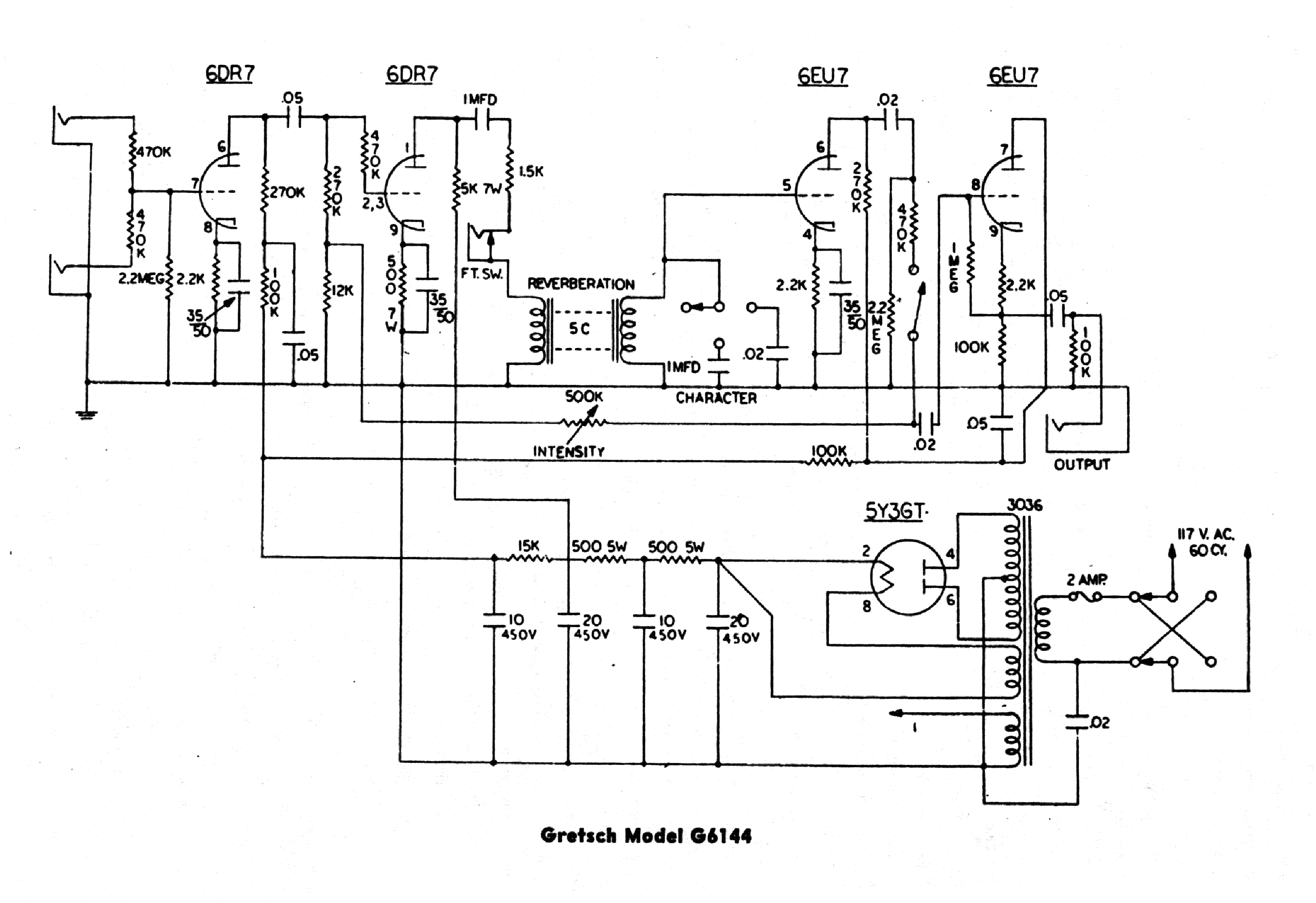 Gretsch Guitar Schematics