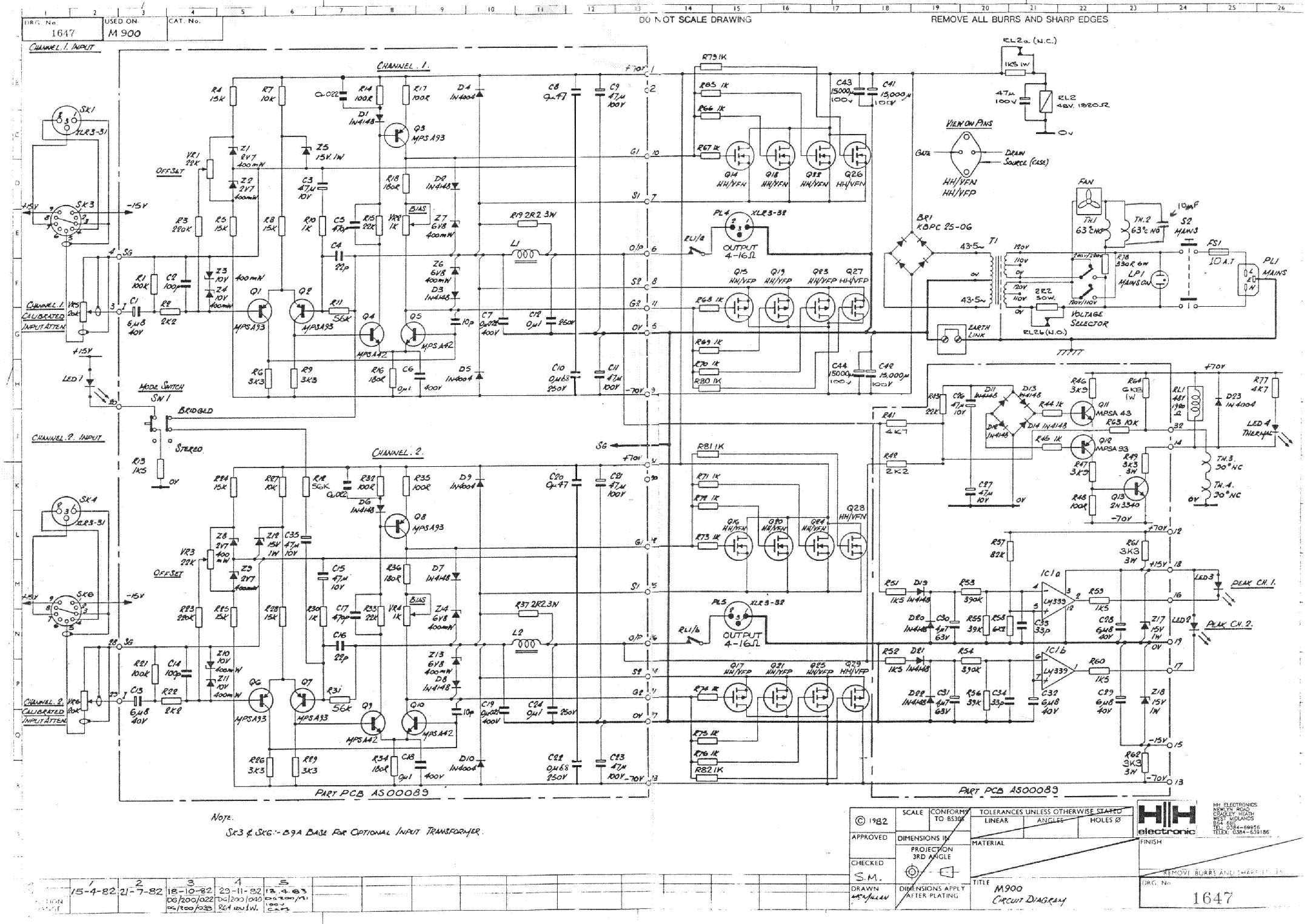 Hh Electronic M900 Service Manual Download Schematics
