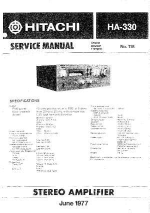 HITACHI HA330 SM Service Manual download, schematics