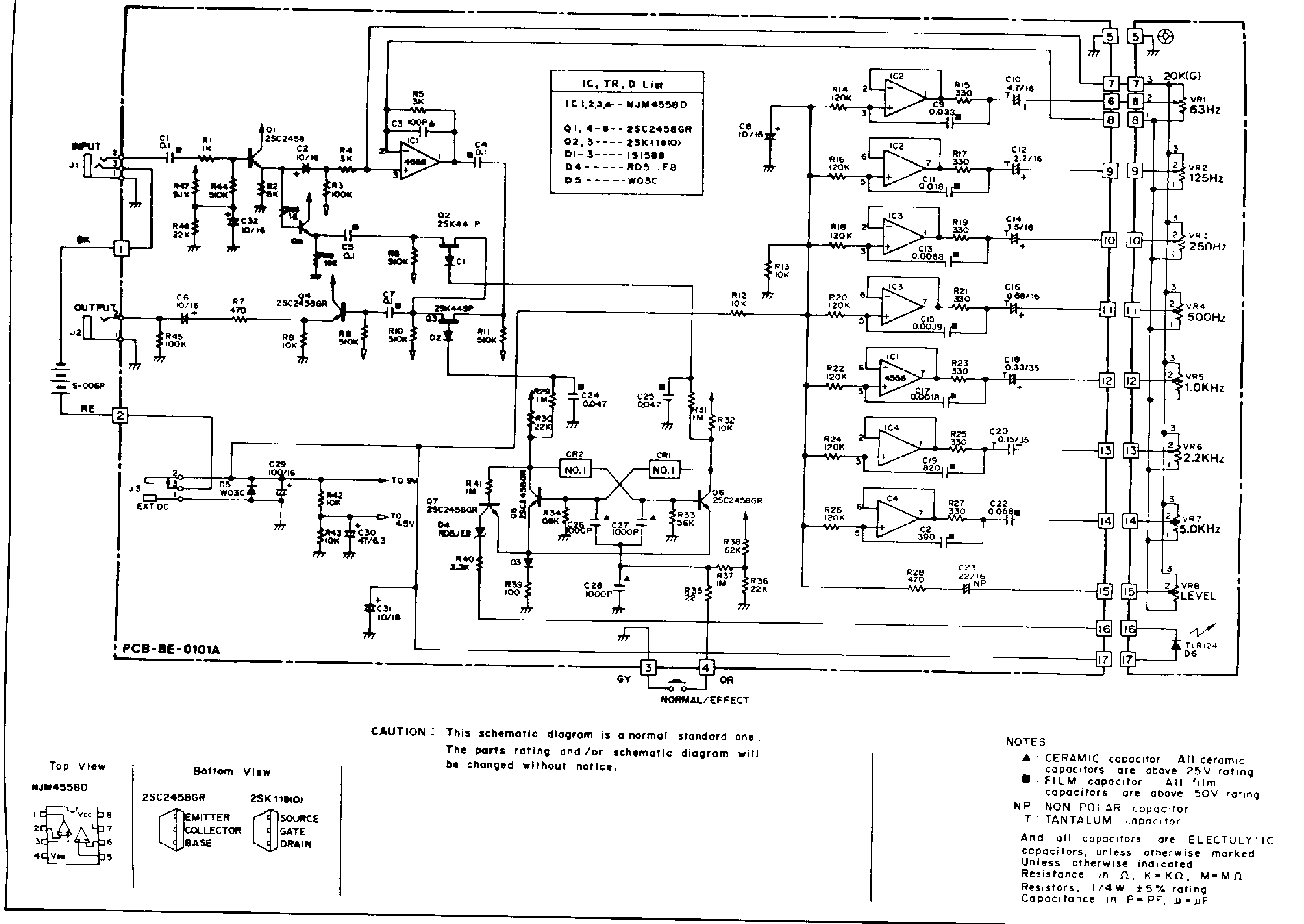 Ibanez Ge9 Sch Service Manual Download Schematics Eeprom