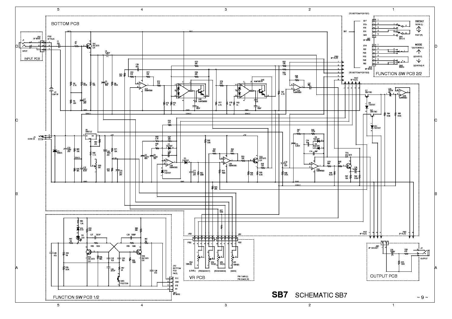 Ibanez Sb7 02 Schematic Service Manual Download