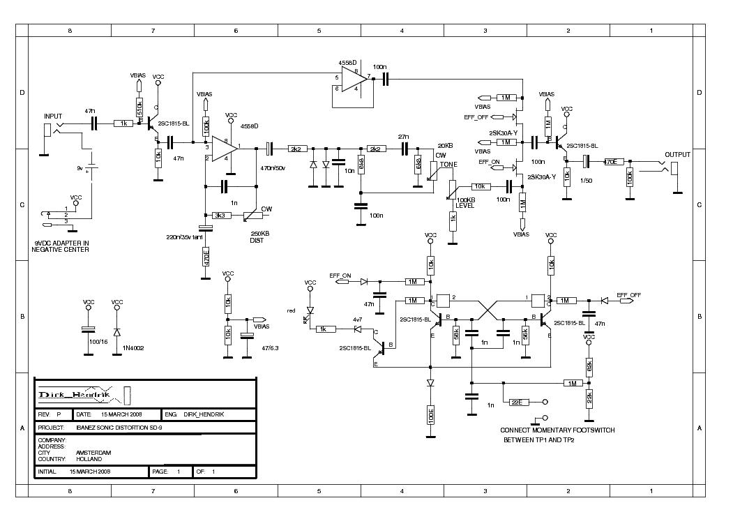 Ibanez Sd9 Sch Service Manual Download Schematics Eeprom
