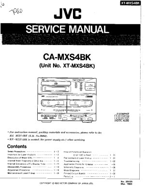 JVC CAMXS4BK XTMXS4BK Service Manual download
