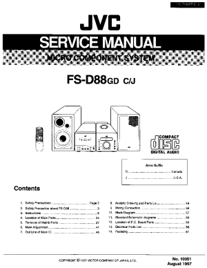 JVC FSD88 Service Manual download, schematics, eeprom