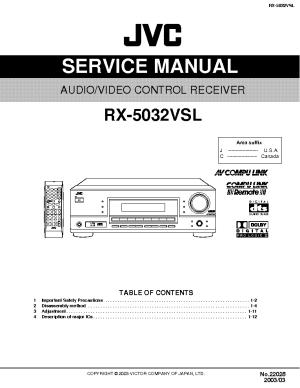 JVC RX5032VSL Service Manual download, schematics, eeprom