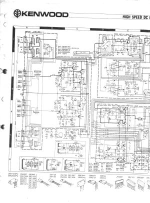 KENWOOD KA601 POWER AMPLIFIER SCH Service Manual download
