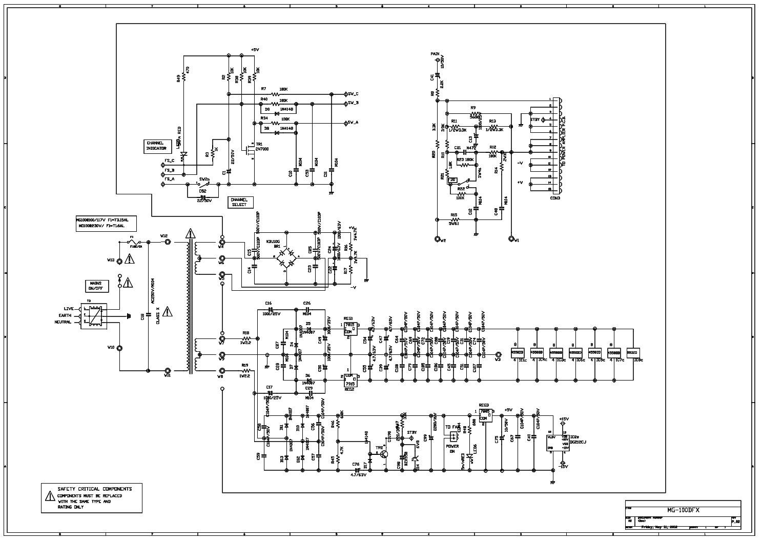 Marshall Mg100dfx Sch Service Manual Download Schematics