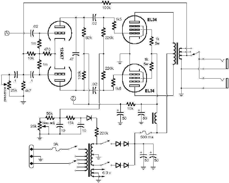 Marshall 2204 Wiring Diagram