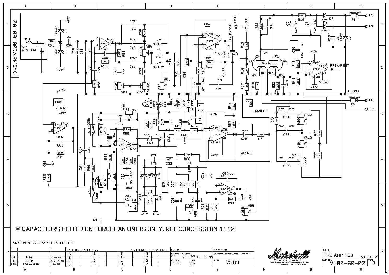 Marshall Vs100r 100w Service Manual Download Schematics