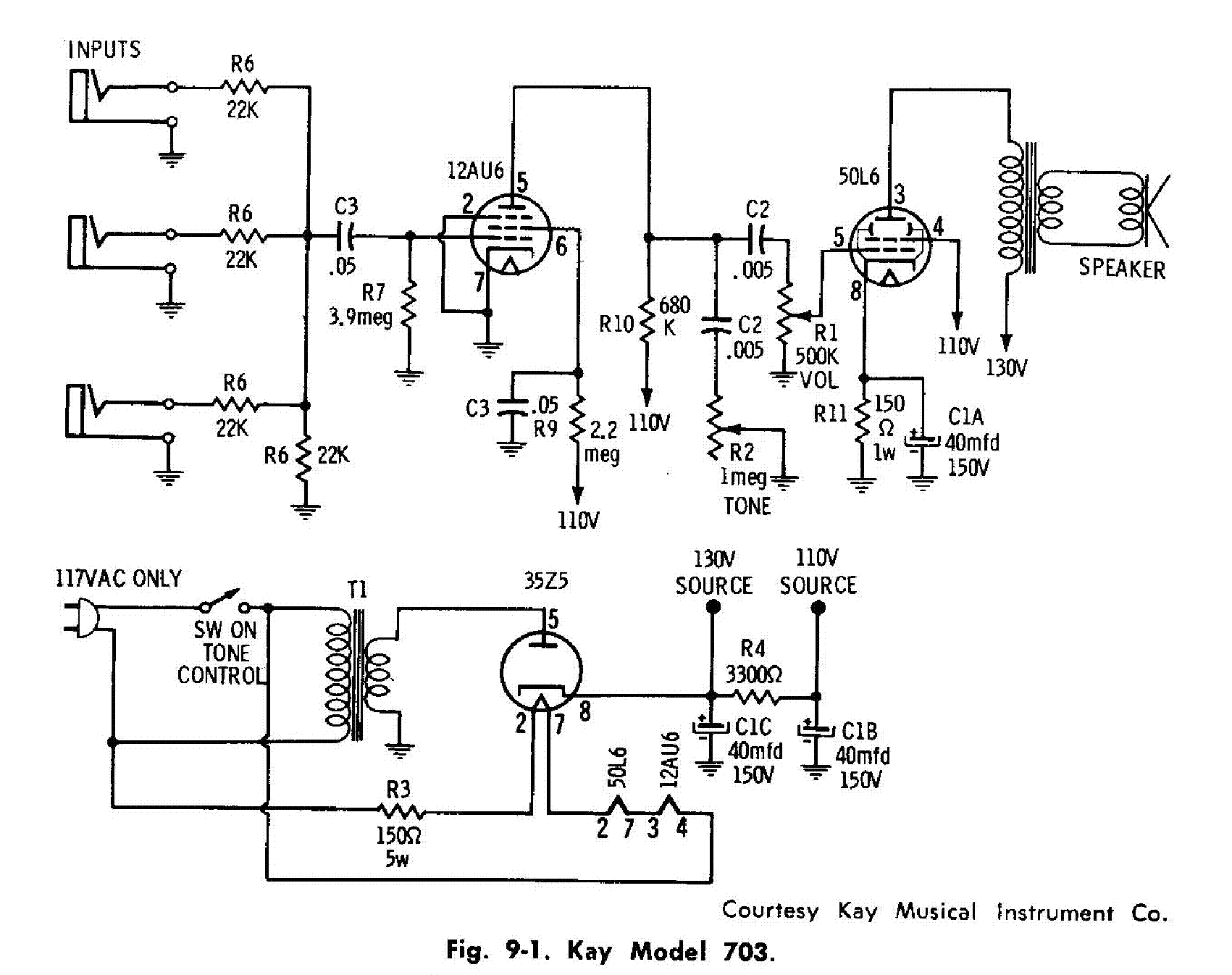 Kay 703 Sch Service Manual Download Schematics Eeprom