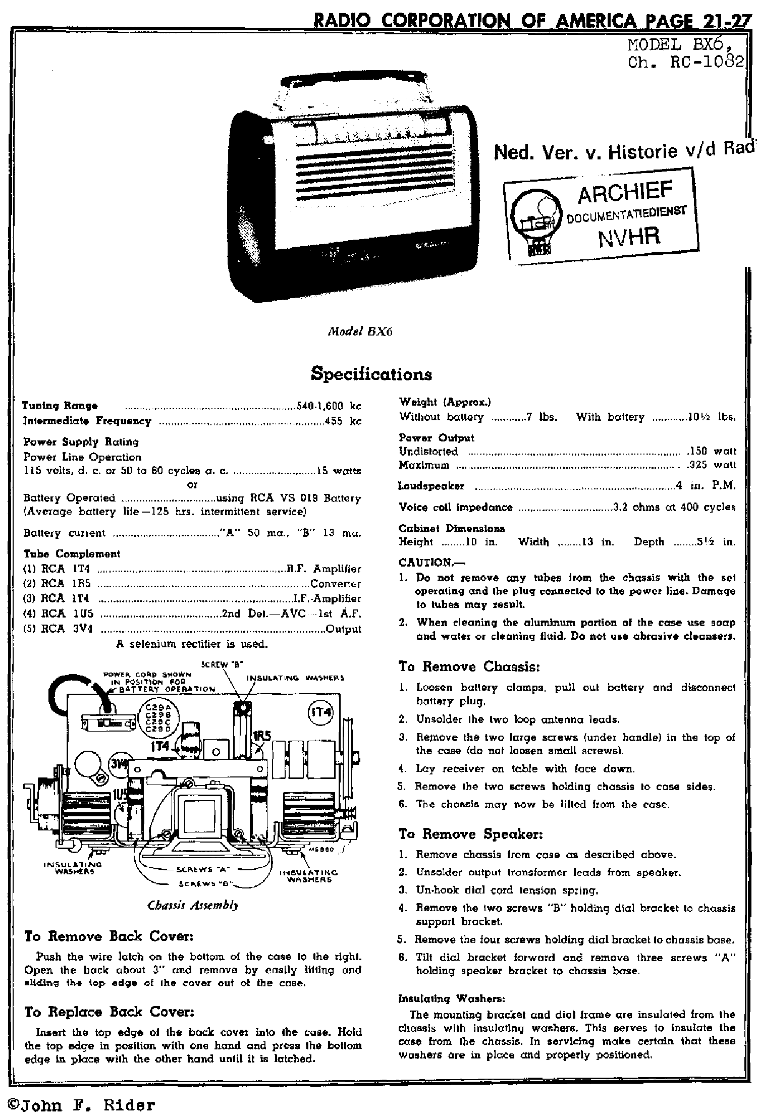 Rca Schematics