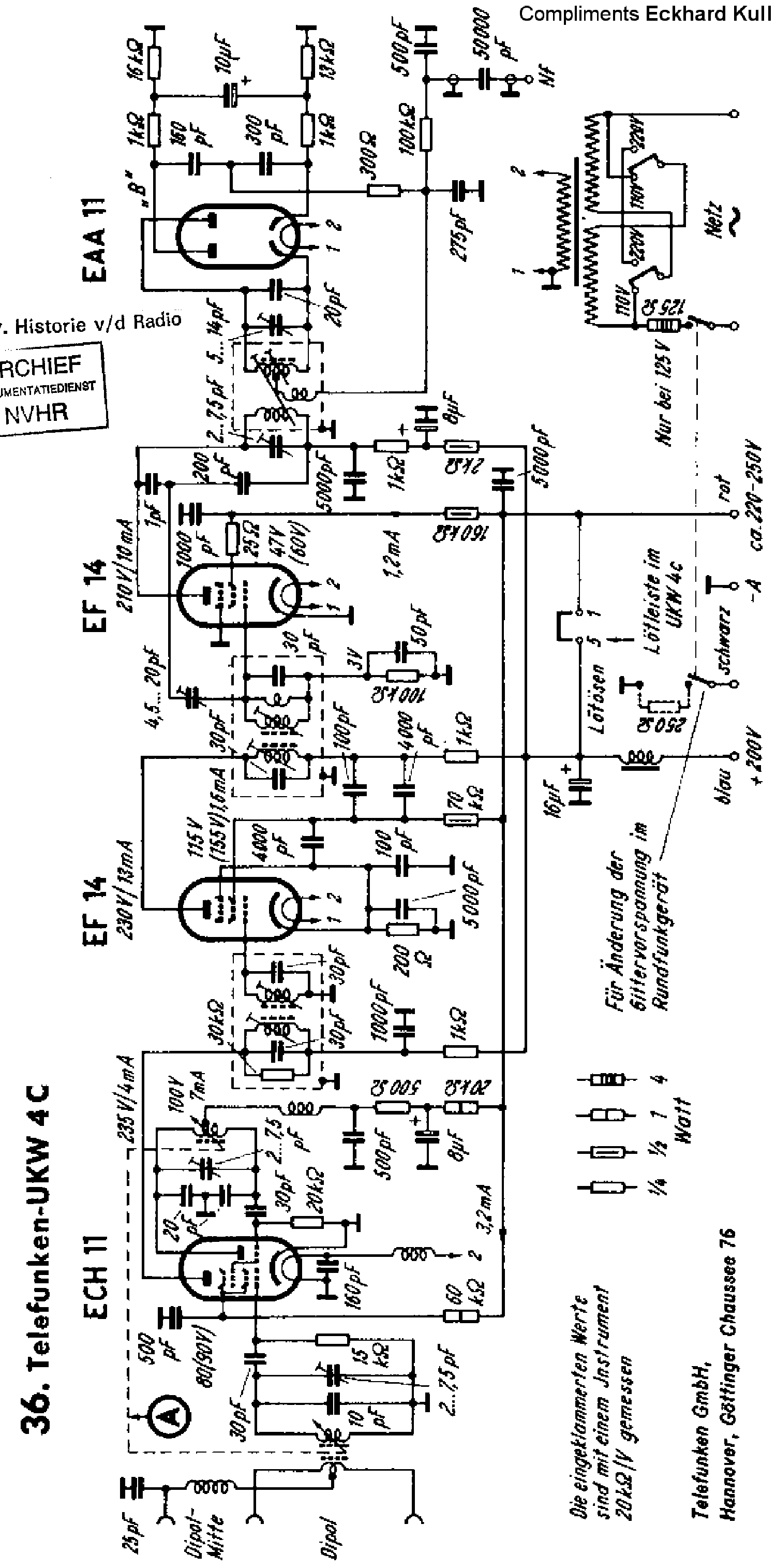 Telefunken Kavalier Sm Service Manual Download Schematics