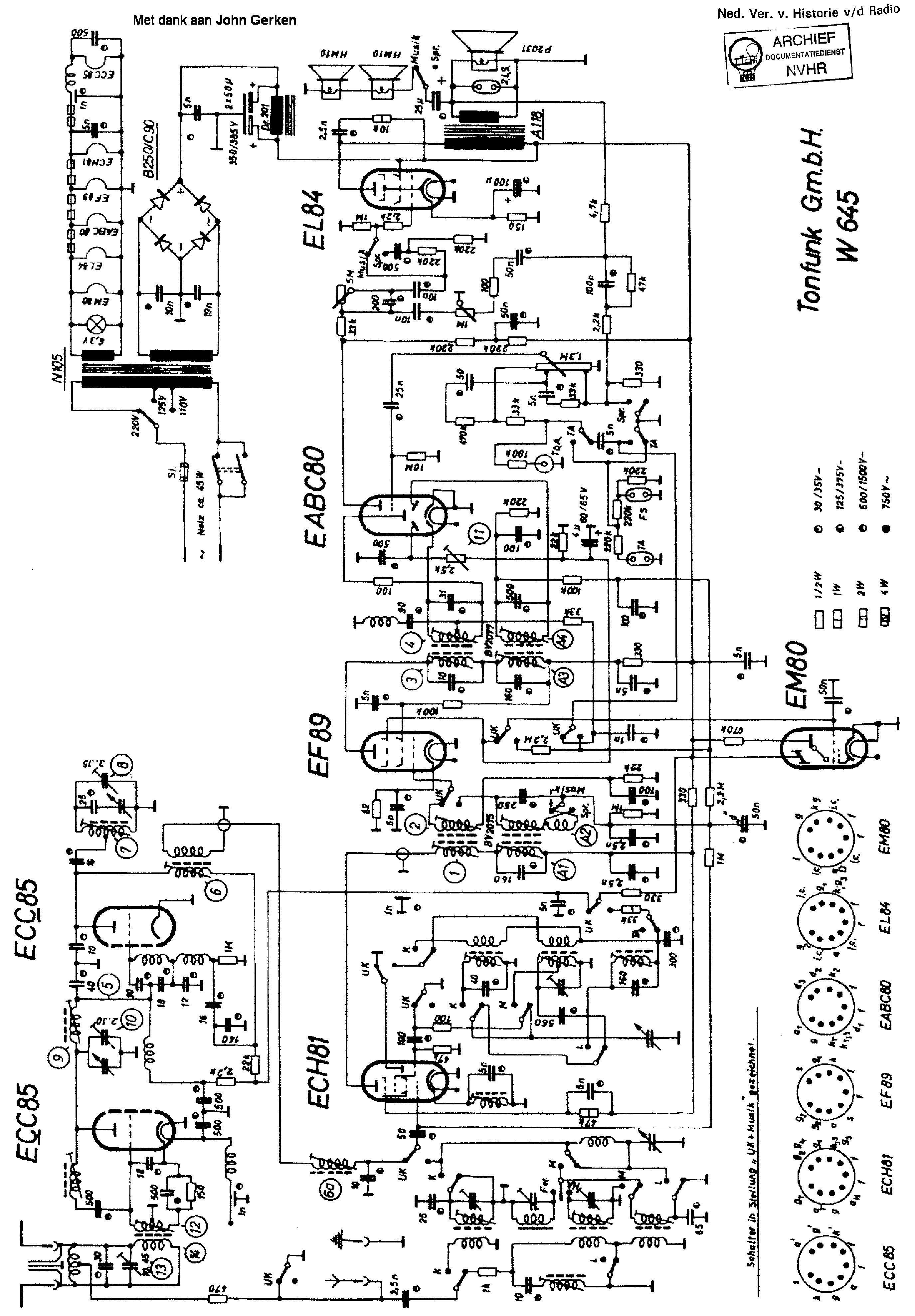 Tonfunk W350 4d Violetta Am Fm Receiver Sch Service Manual Download Schematics Eeprom Repair