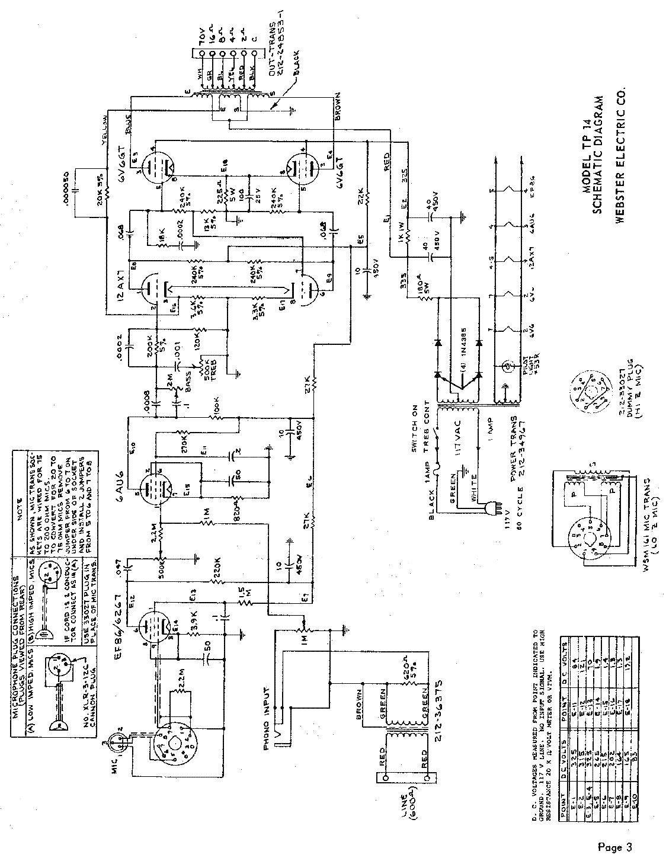 Webster A 4x2a3 Type F Power Amplifier Sch Service