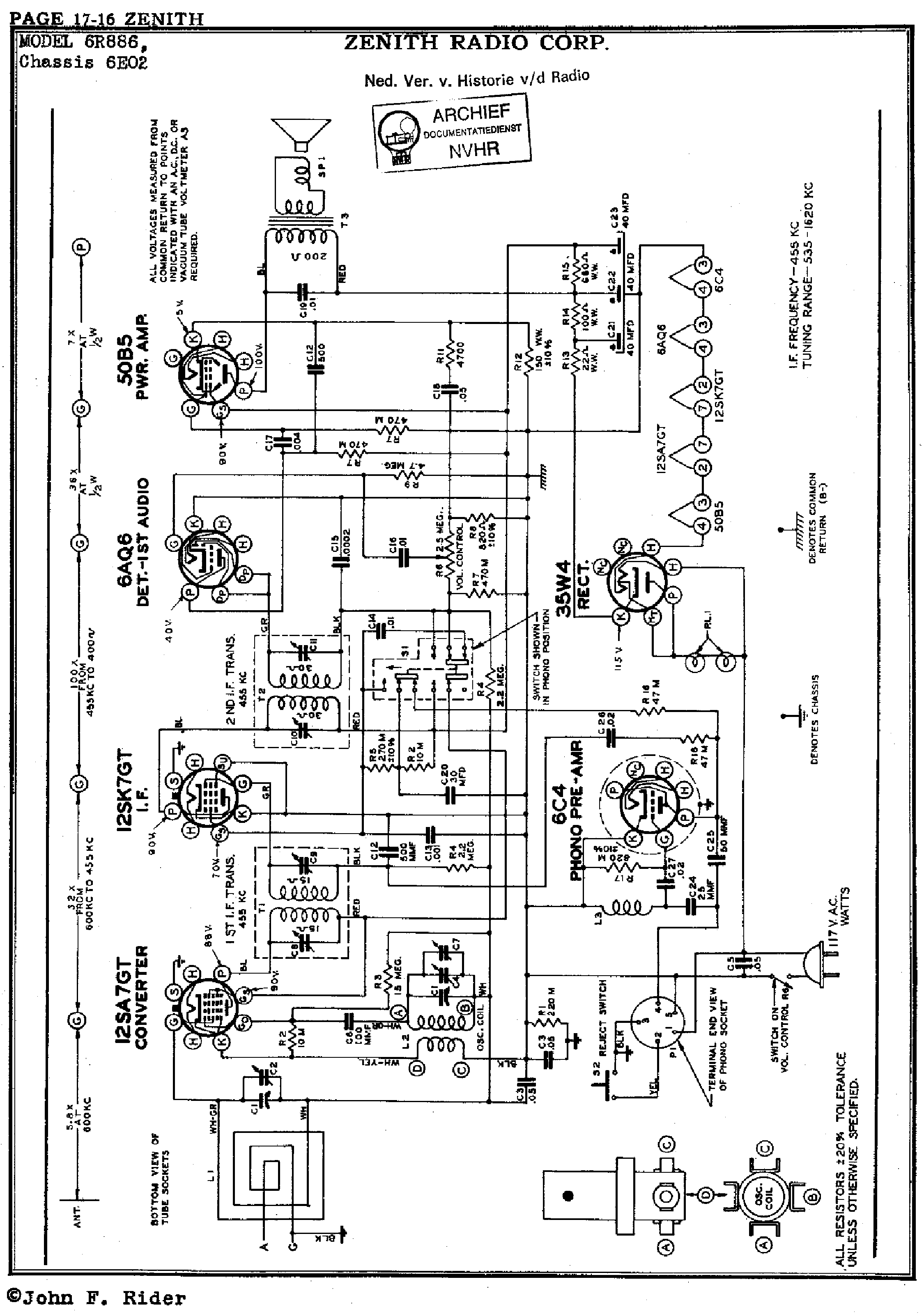 Zenith Royal750l Service Manual Download Schematics