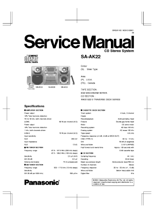 PANASONIC SAAK22 SM Service Manual download, schematics
