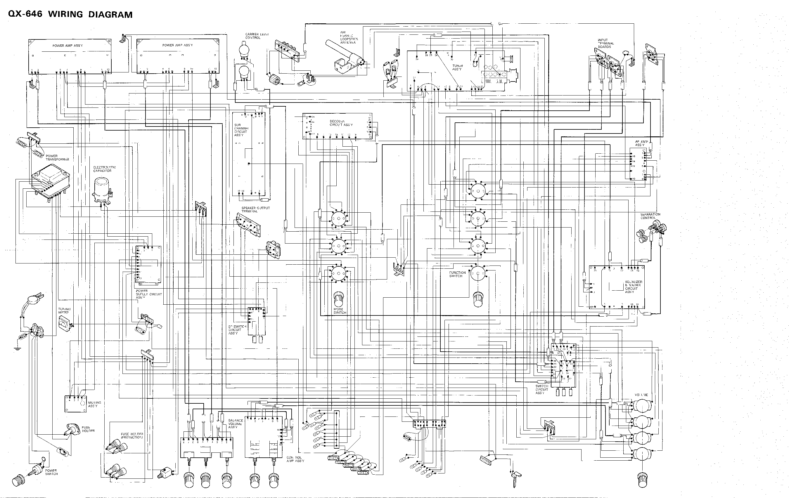 Pioneer Qx 646 Kuw Fw 4 Channel Receiver Wiring Sm Service Manual Download Schematics